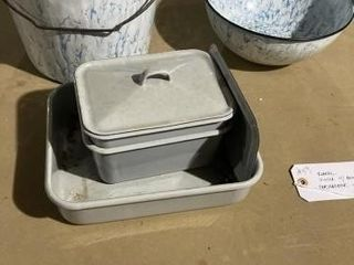 Emanel pot and bowl and refridgerator ware