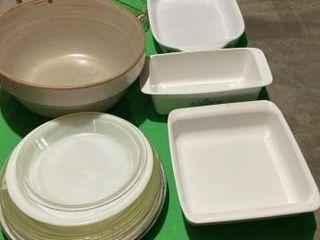 Pyrex  fire king  corningware dishes