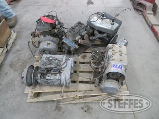 Pallet of misc snowmobile engines 1 jpg