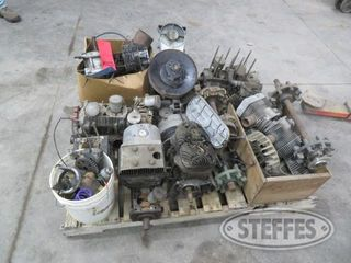 Pallet of misc snowmobile engine clutch parts 1 jpg