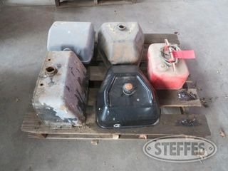 Pallet of misc fuel tanks 1 jpg