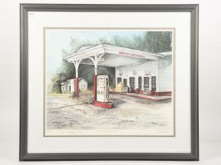 1987 WHITE GRO    GAS lIMITED EDITION PRINT