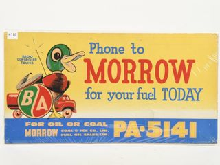 B A  GREEN RED   PHONE TO MORROW  S S PAPER ADV