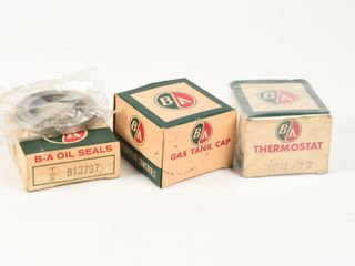 lOT OF 3 B A  GREEN RED  AUTOMOTIVE PARTS   BOXES