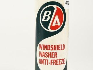B A  GREEN RED  WINDSHIElD WASHER ANTI FREEZE CAN