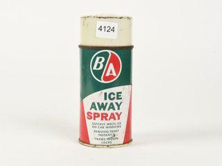 B A  GREEN RED  ICE AWAY SPRAY 10 OZS  SPRAY CAN