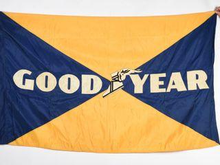 VINTAGE GOODYEAR GlORY   GlOSS FlAG
