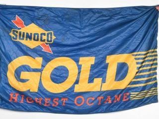 SUNOCO GOlD HIGHEST OCTANE NYlON FlAG