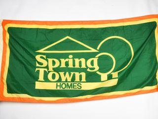 SPRING TOWN HOMES NYlON FlAG