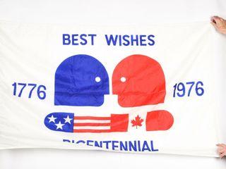 CANADIAN BICENTENNIAl BEST WISHES NYlON FlAG