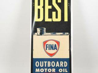 FINA THE BEST OUTBOARD MOTOR OIl CARDBOARD POSTER