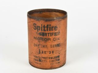 RARE SPITFIRE FORTIFIED MOTOR OIl IMP  QT  CAN