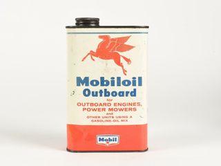 MOBIlOIl OUTBOARD MOTOR OIl SAE 30 U S  QUART CAN