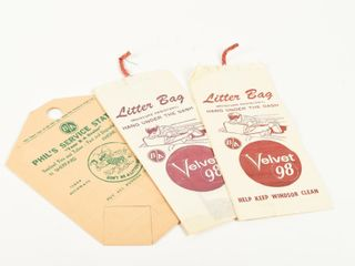 GROUPING OF 3 B A PAPER lITTER BAGS