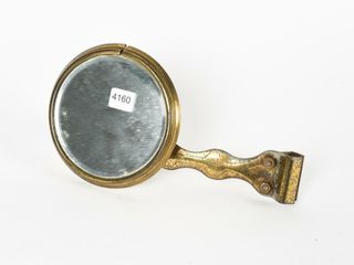 EARlY 1920 S BRASS AUTOMOBIlE REAR VIEW MIRROR