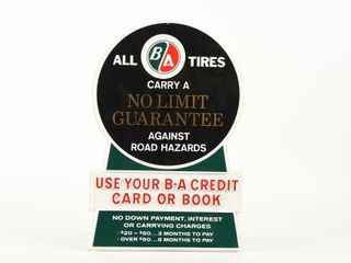 B A  GREEN RED  TIRES AGAINST HAZARDS S S SIGN