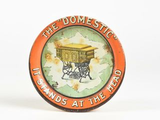 THE  DOMESTIC  IT STANDS AT THE HEAD TIN PIN TRAY