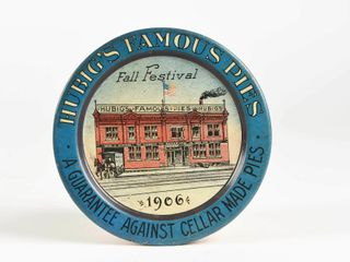 1906 HUBIG S FAMOUS PIES FAll FESTIVAl TIP TRAY