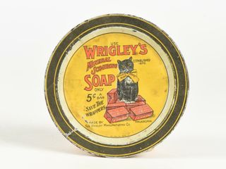 USE WRIGlEY S MINERAl SCOURING SOAP TIN PIN TRAY