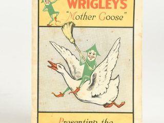 1938 WRIGlEY S  MOTHER GOOSE  SPEARMEN BOOKlET