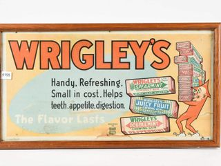 WRIGlEY S GUM  THE FlAVOR lASTS  CARDBOARD POSTER