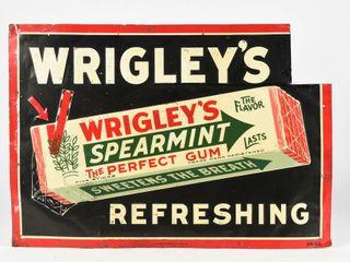 WRIGlEY S GUM REFRESHING SST EMBOSSED SIGN