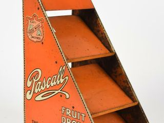 PASCAll FRUIT DROPS STORE COUNTER METAl DISPlAY