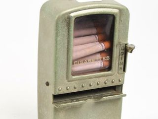 VINTAGE SMAll COIN OPERATED CIGARETTE MACHINE