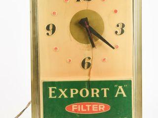EXPORT  A  FIlTER CIGARETTES ElECTRIC ClOCK