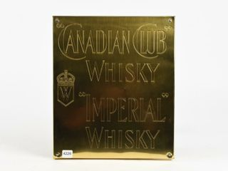 CANADIAN ClUB WHISKEY  IMPERIAl WHISKEY  SIGN