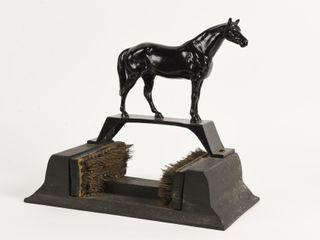 VINTAGE CAST BlACK HORSE BOOT SCRAPER