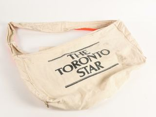 THE TORONTO STAR CANVAS NEWSPAPER DElIVERY BAG