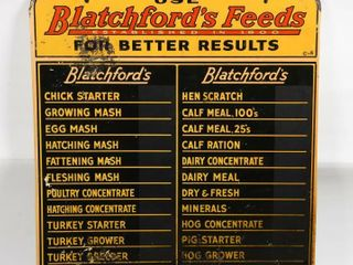 1954 USE BlATCHFORD FEEDS FEED PRICES CHAlK BOARD