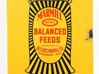 MARMIll FEEDS SOlD HERE EMBOSSED SST SIGN