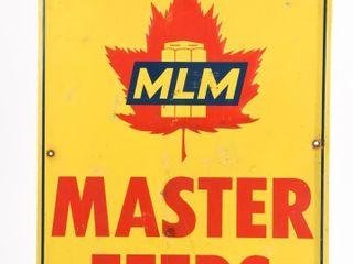 1964 MlM MASTER FEEDS SST EMBOSSED SIGN