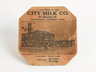 VINTAGE HOME OF THE CITY MIlK COMPANY HOT PlATE