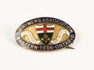 DAIRYMENS ASSOCIATION 1906 WESTERN ONTARIO PIN