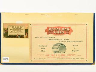 1918 ROYAl OAK TIRES  TORONTO MFG  PRICE lIST