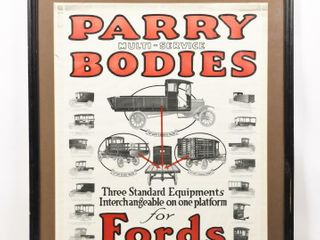 PARRY BODIES FOR FORDS S S PAPER ADVERTISING