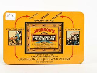JOHNSON S lIQUID WAX POlISHING ClOTH   NOS