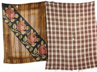 lOT OF 2 PlAID CAR OR BUGGY BlANKETS