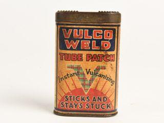 RARE VUlCO WElD TUBE PATCH 25 CENT TIN