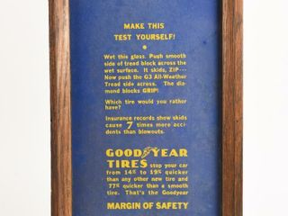 GOODYEAR TIRES  MAKE THIS TEST  GlASS ADVERTISING