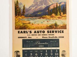 1955 FIRESTONE GORMlEY  ONT  ADV  CAlENDAR