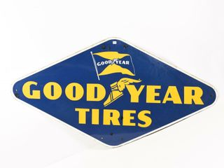 1950 GOODYEAR TIRES SSP SIGN
