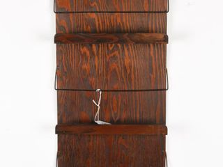 HIS MASTER S VOICE WOODEN PAMPHlET RACK