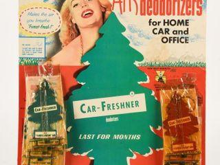 1961 CAR FRESHNER DEODORIZERS STORE DISPlAY