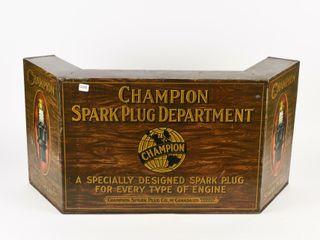 RARE CHAMPION SPARK PlUG TIN DISPlAY CABINET