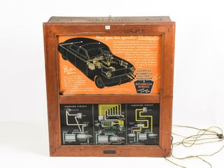 EARlY 1950 S AUTOMOTIVE ElECTRICAl DISPlAY CABINET