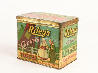 RIlEY S CREAMY TOFFEE 4 lBS  TIN